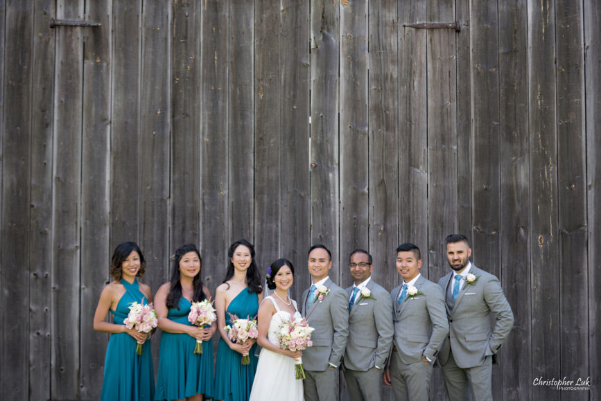 Christopher Luk - Toronto Wedding Lifestyle Event Photographer - Photojournalistic Natural Candid Markham Museum Creative Portrait Session Bride Groom Bridesmaids Groomsmen Bridal Party Barn Smile