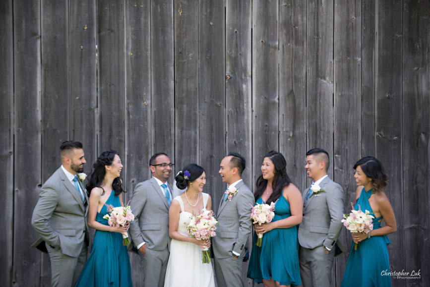 Christopher Luk - Toronto Wedding Lifestyle Event Photographer - Photojournalistic Natural Candid Markham Museum Creative Portrait Session Bride Groom Bridesmaids Groomsmen Bridal Party Barn Laughing