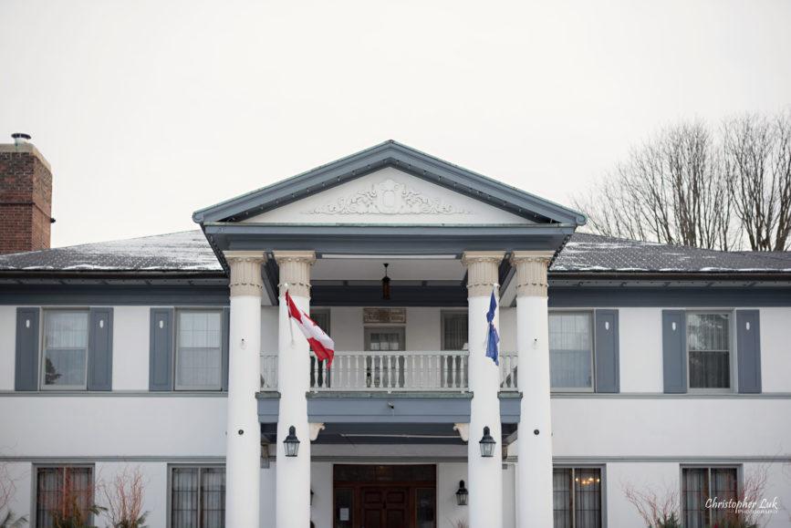 Toronto Wedding Photographer Heintzman House Winter Wedding Historic Estate Event Venue Markham Thornhill York Region Front Exterior