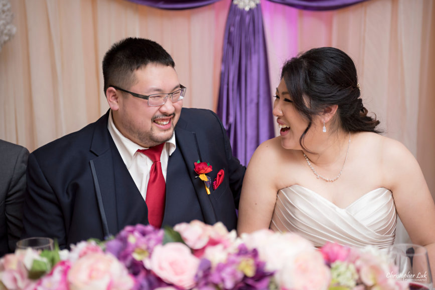 Toronto Wedding Photographer Casa Deluz Banquet Hall Chinese Restaurant 12 10 Traditional Course Winter Wedding Natural Candid Photojournalistic Documentary Pictures Photos Bride Groom Laugh Smile