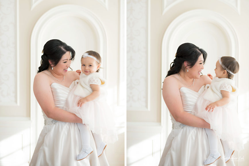 Toronto Wedding Photographer Heintzman House Winter Wedding Markham York Region Historic Estate Event Venue Photojournalistic Documentary Candid Natural Creative Portrait Session Bride Bridal Daughter Niece Toddler Infant Baby Flower Girl Cute Adorable