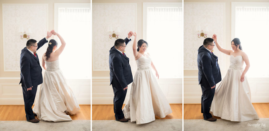 Toronto Wedding Photographer Heintzman House Winter Wedding Markham York Region Historic Estate Event Venue Photojournalistic Documentary Candid Natural Creative Portrait Session Bride Groom First Dance Reveal Spin Twirl Dance Dancing