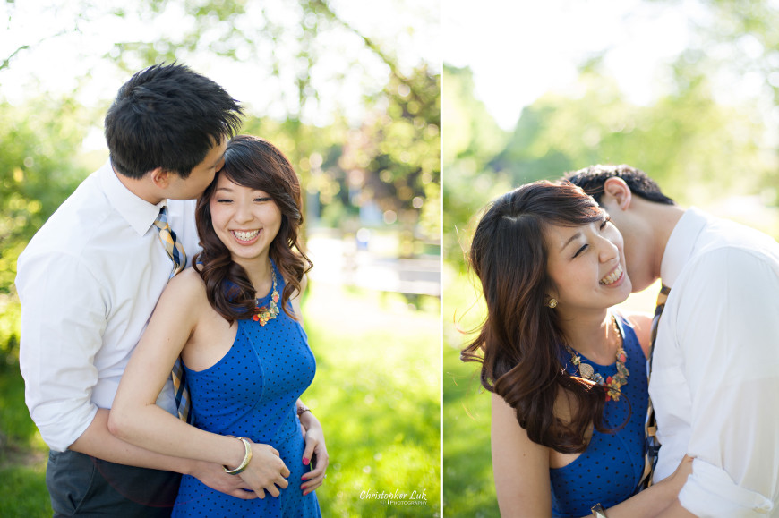 Christopher Luk 2014 - Heidi and Ming-Yun Engagement Session - Markham Richmond Hill Wedding Event Photographer - Candid Relaxed Natural Photojournalistic Sunset Golden Hour Hug Smile Laugh Kiss