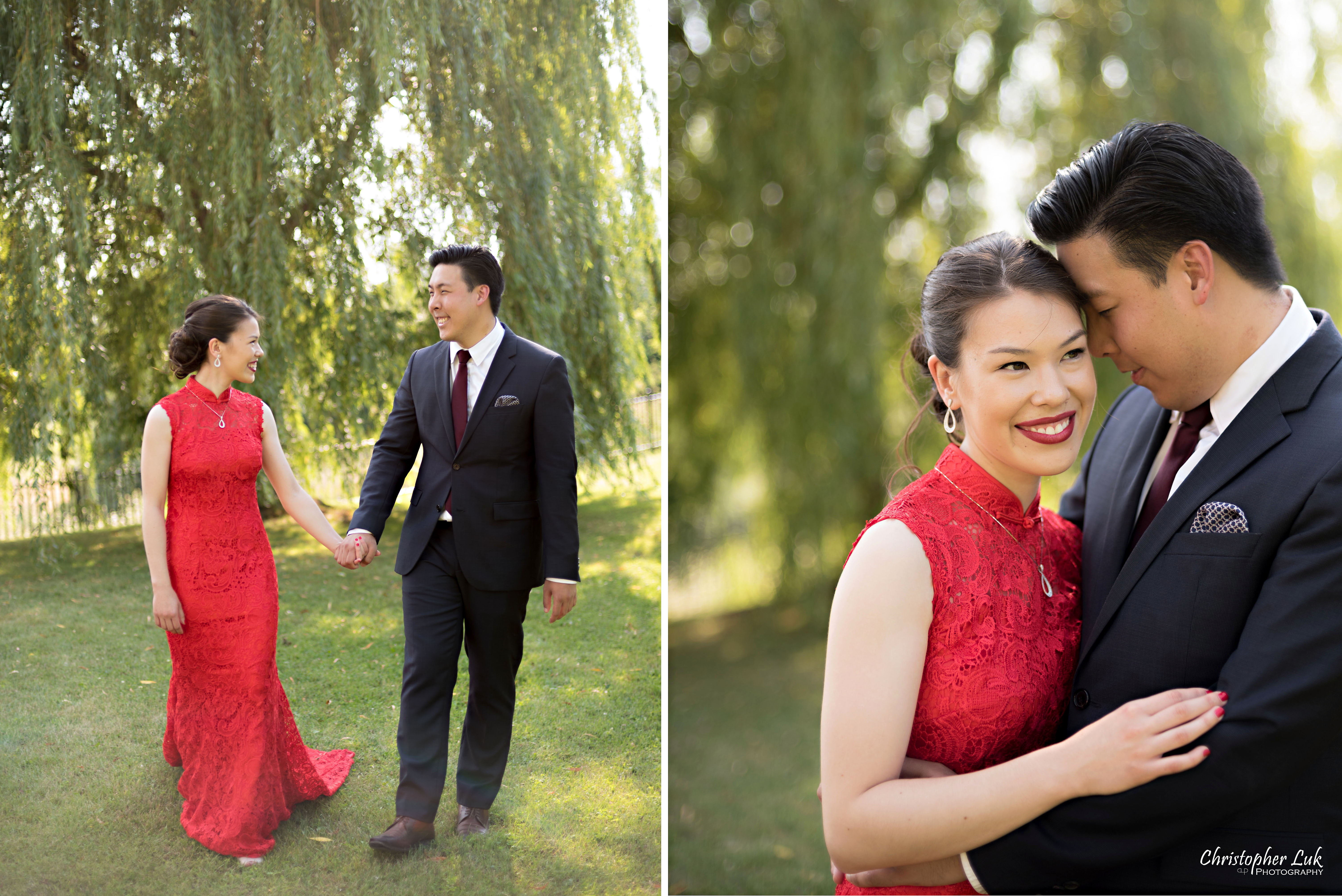Vannessa and Daniel's Summer Outdoor Backyard Engagement Party / Family Tea Ceremony Celebration