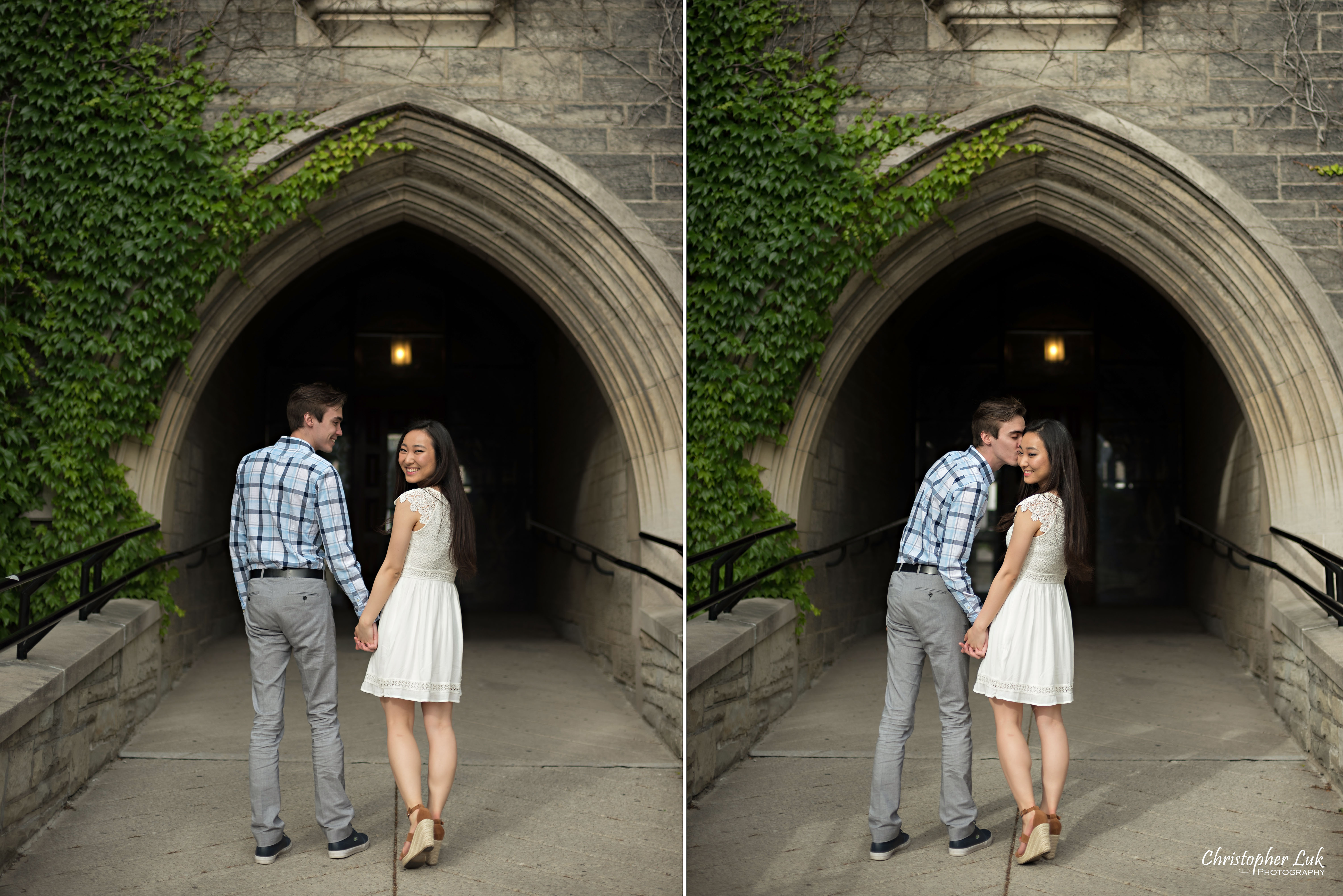 Cindy and Matthew's University of Toronto Downtown (University College, King's College Circle, Hart House) Engagement Session