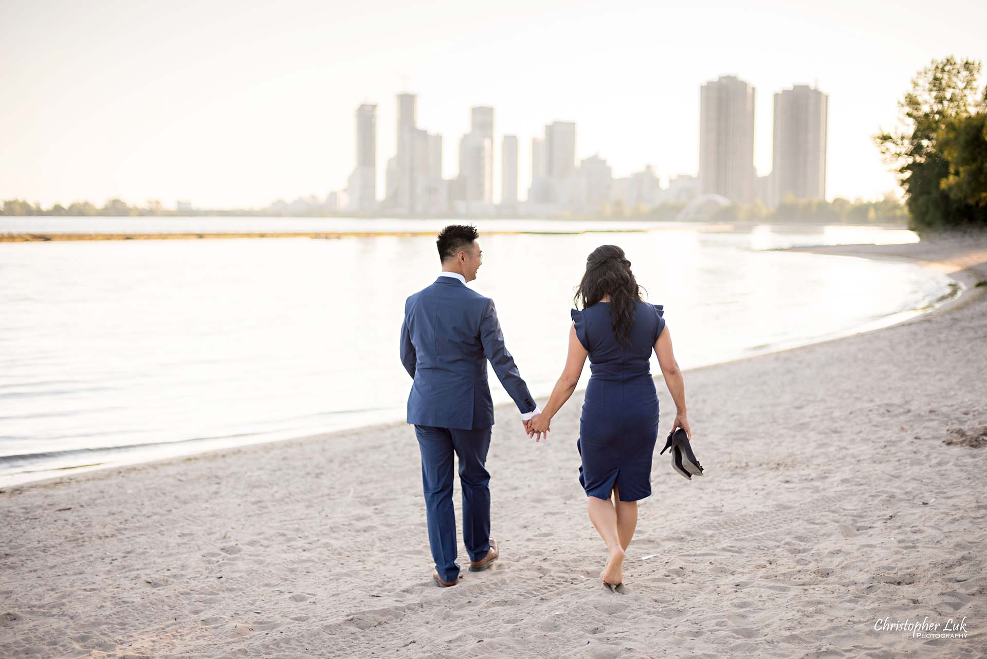 Christopher Luk Toronto Wedding Photographer Engagement Photography Sunnyside Pavilion Park Beach Boardwalk