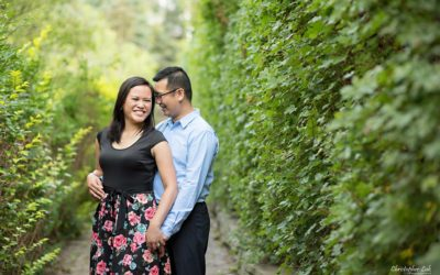 Edith and Jeff's Engagement Session – Alexander Muir Memorial Gardens Park – Toronto Wedding Photographer