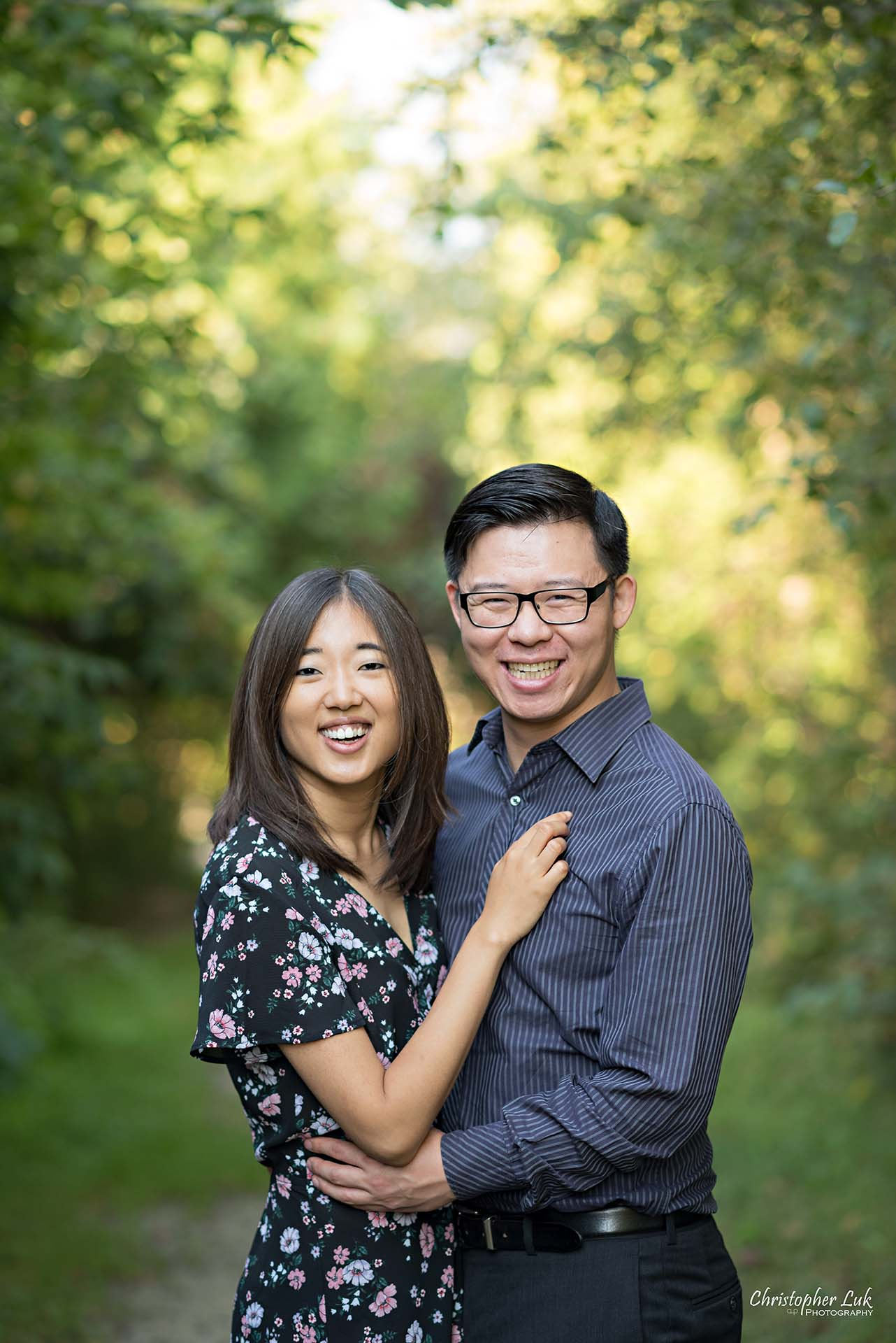 Christopher Luk Toronto Wedding Photographer - Richmond Hill Markham York Region Conservation Area Engagement PreWedding Chinese Korean - Natural Candid Photojournalistic Bride Groom Hug Smile Closeup Headshot