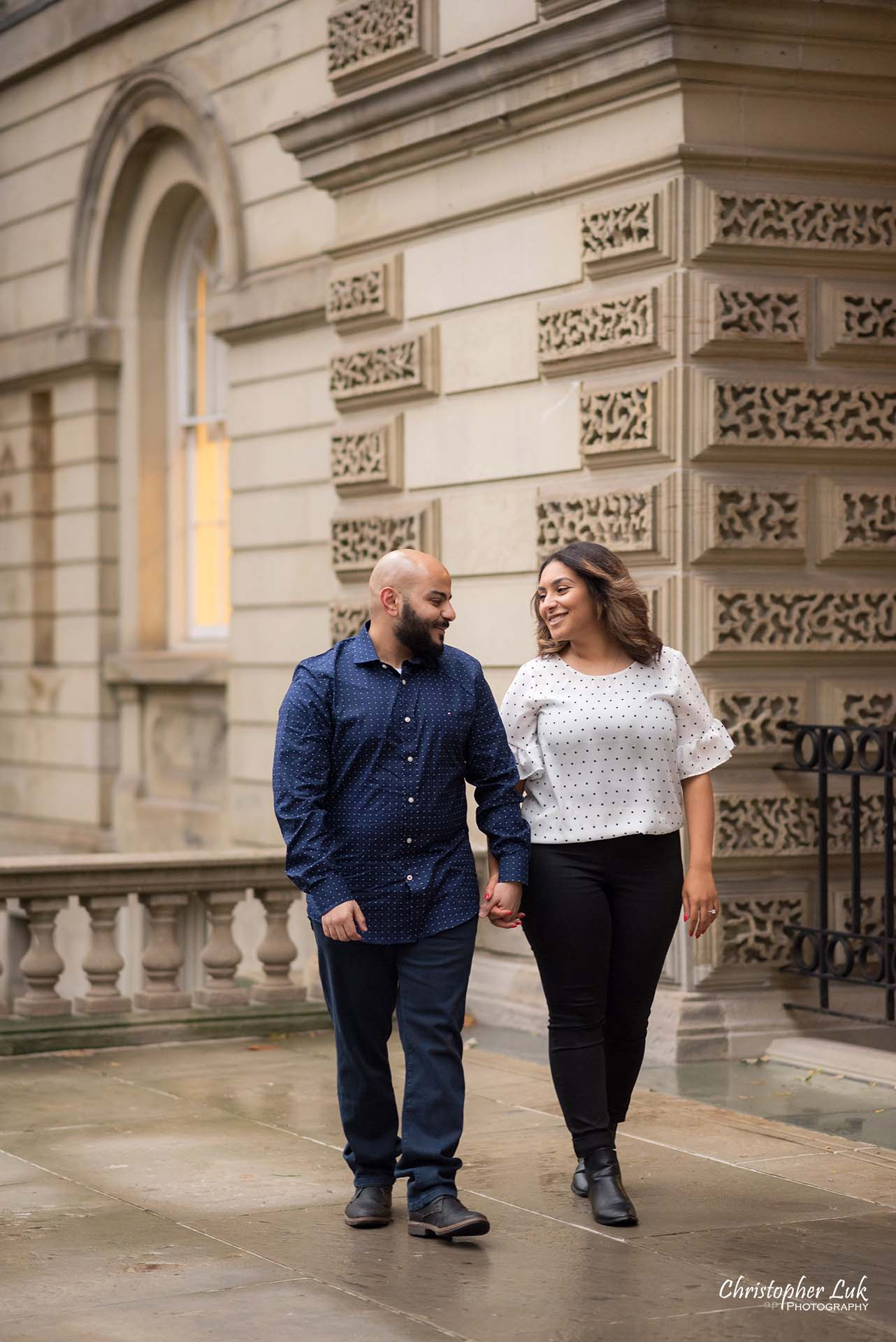 Christopher Luk Toronto Wedding Photographer - Toronto Osgoode Hall Surprise Proposal Engaged Engagement Will You Marry Me She Said Yes Natural Candid Photojournalistic - Fiancé Fiancée Bride Groom Walking