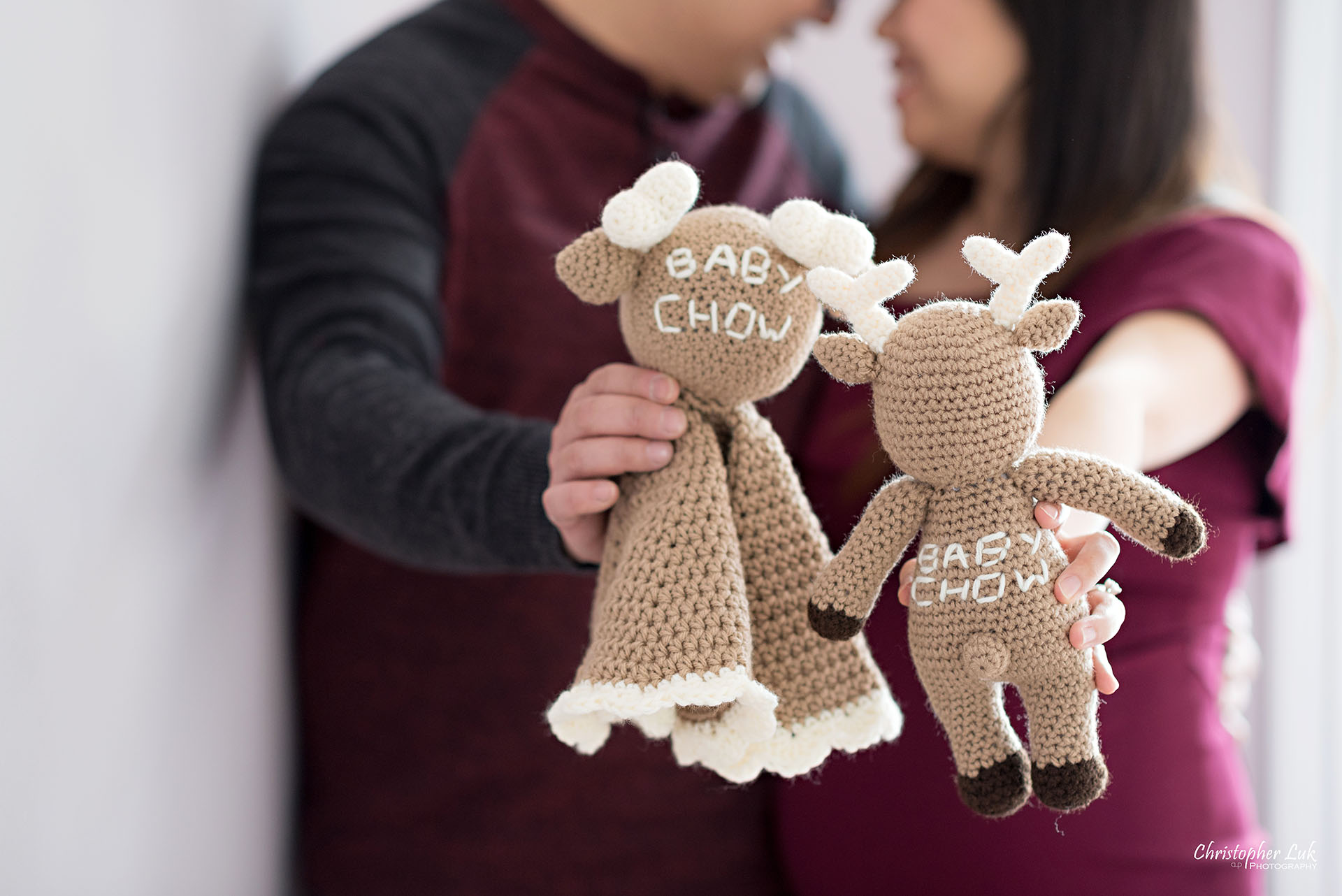 Christopher Luk Toronto Wedding Family Maternity Photographer - Markham Richmond Hill Toronto Natural Candid Photojournalistic Mom Dad Husband Wife Baby Bump Baby Pregnant Pregnancy Stuffed Animal Moose Elk Smile Close Stitching Name