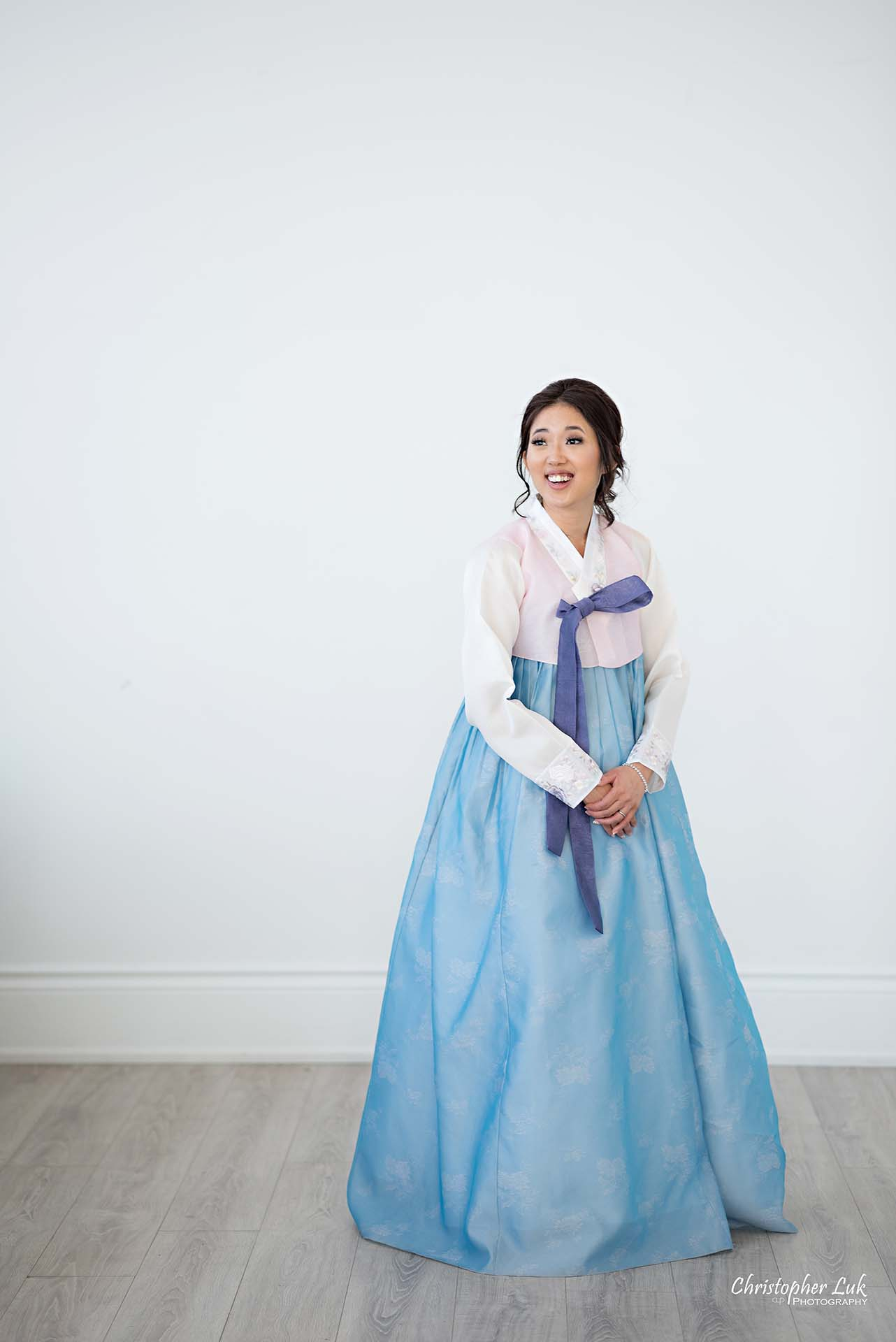 Christopher Luk Toronto Wedding Photographer - Mint Room Studios Bride Natural Candid Photojournalistic Conservatory Ballroom Korean Drama Hanbok Full Body