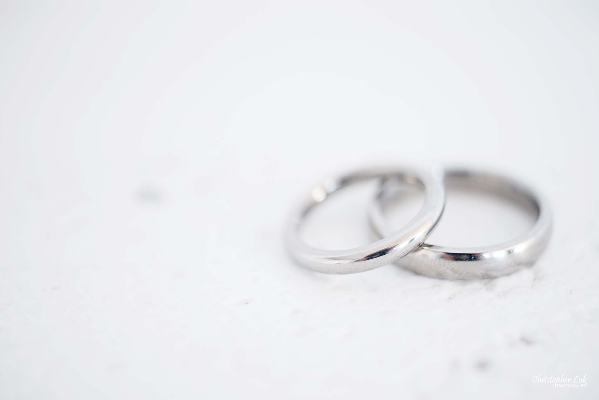 Christopher Luk Toronto Wedding Photographer - Mint Room Studios Bands Rings Detail