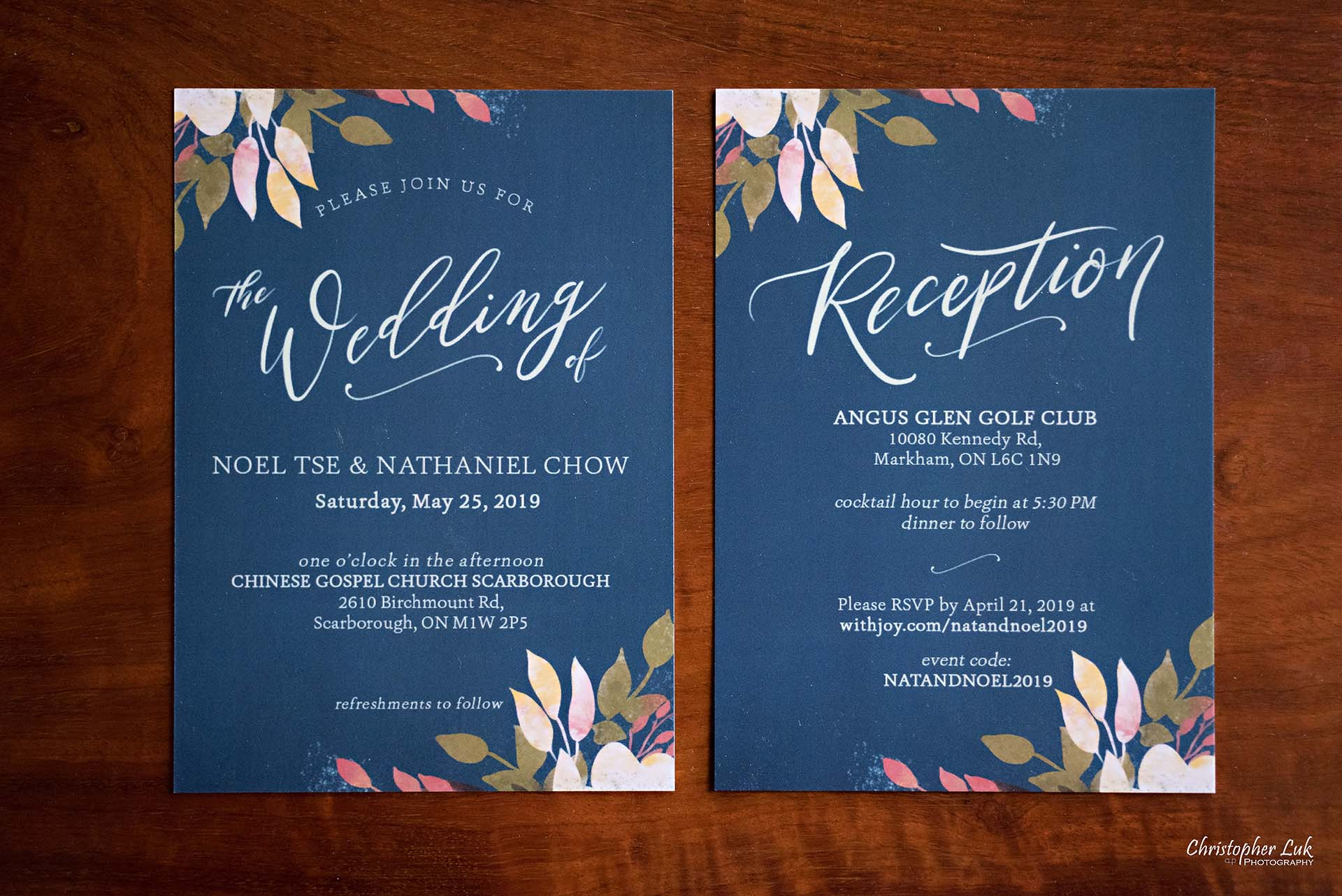 Christopher Luk Toronto Wedding Photographer Bride Getting Ready Preparations Printed Paper Floral Design Invitations Stationary Stationery Church Ceremony Dinner Reception