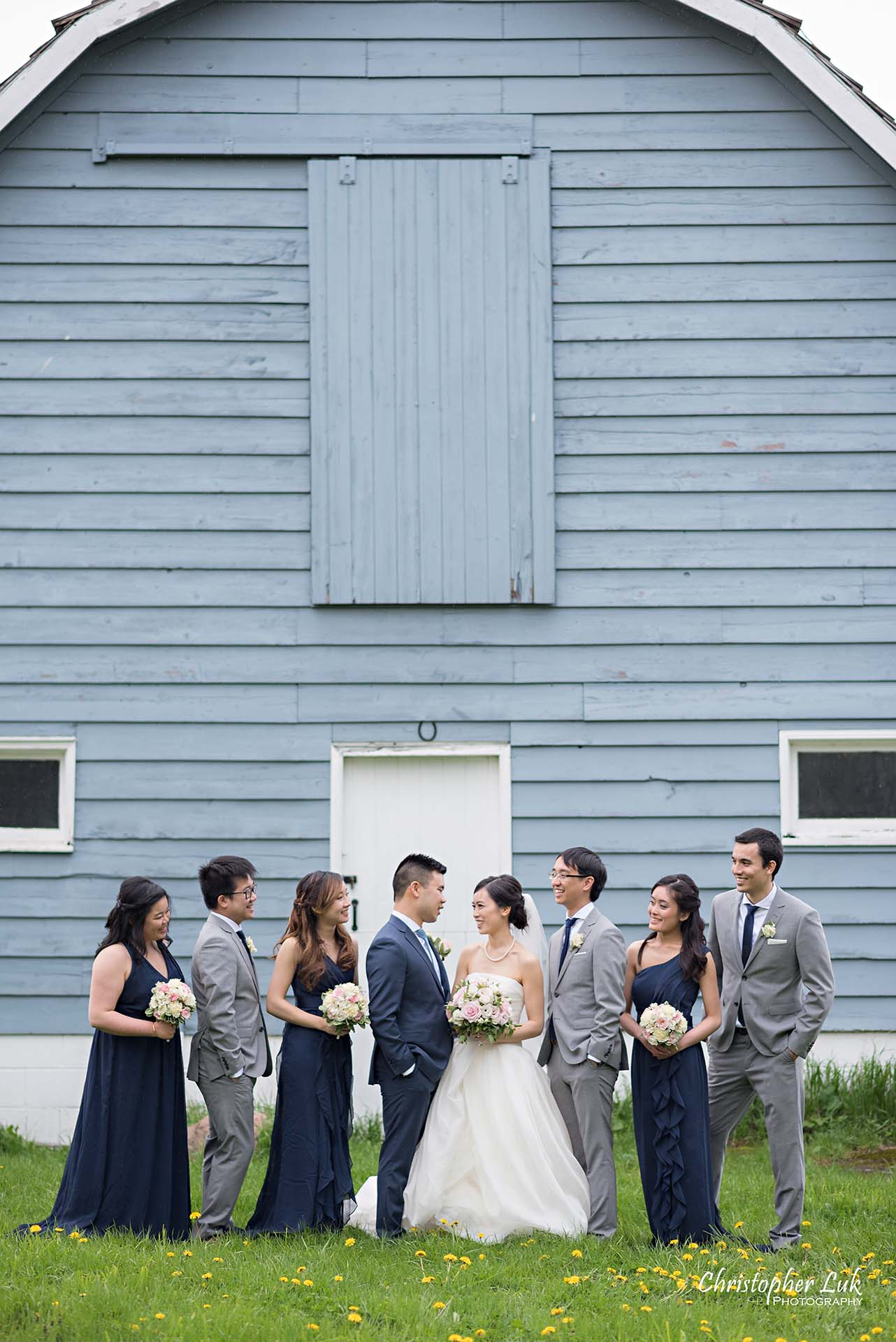 Christopher Luk Toronto Wedding Photographer Angus Glen Golf Club Markham Main Blue Barn Farm Historic Estate Building Together Natural Candid Photojournalistic Bride Groom Best Man Maid of Honour Bridal Party Groomsmen Bridesmaids Portrait