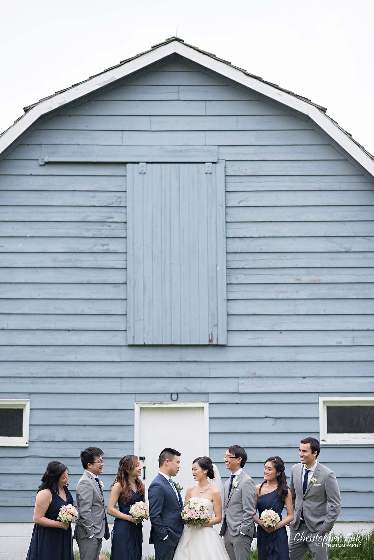 Christopher Luk Toronto Wedding Photographer Angus Glen Golf Club Markham Main Blue Barn Farm Historic Estate Building Together Natural Candid Photojournalistic Bride Groom Best Man Maid of Honour Bridal Party Groomsmen Bridesmaids Portrait Top