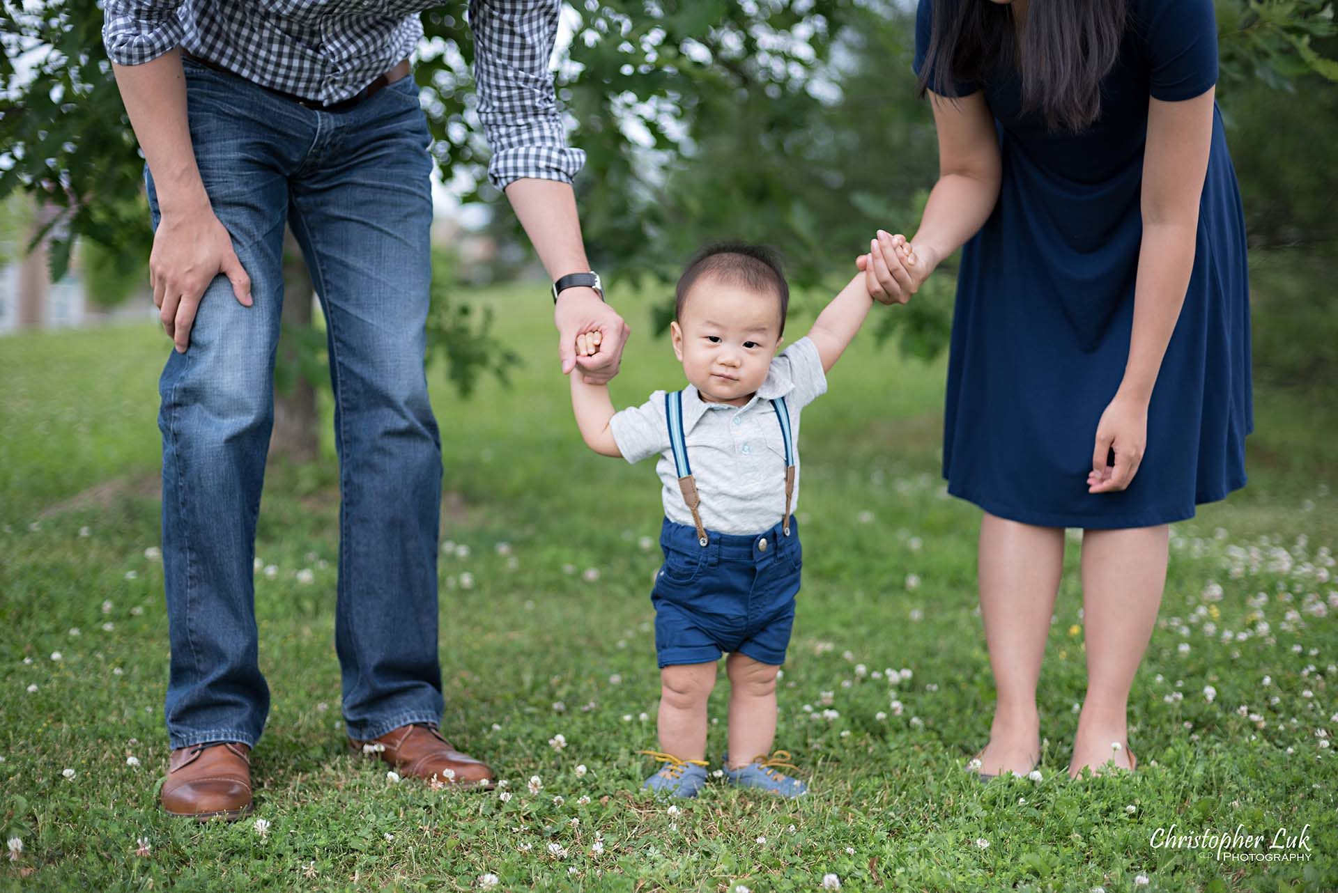 Christopher Luk Family Baby Wedding Photographer Richmond Hill Markham Toronto - Candid Natural Photojournalistic Father Mother Dad Mom Motherhood Fatherhood Baby Smile Cute Adorable Standing Up Holding Hands
