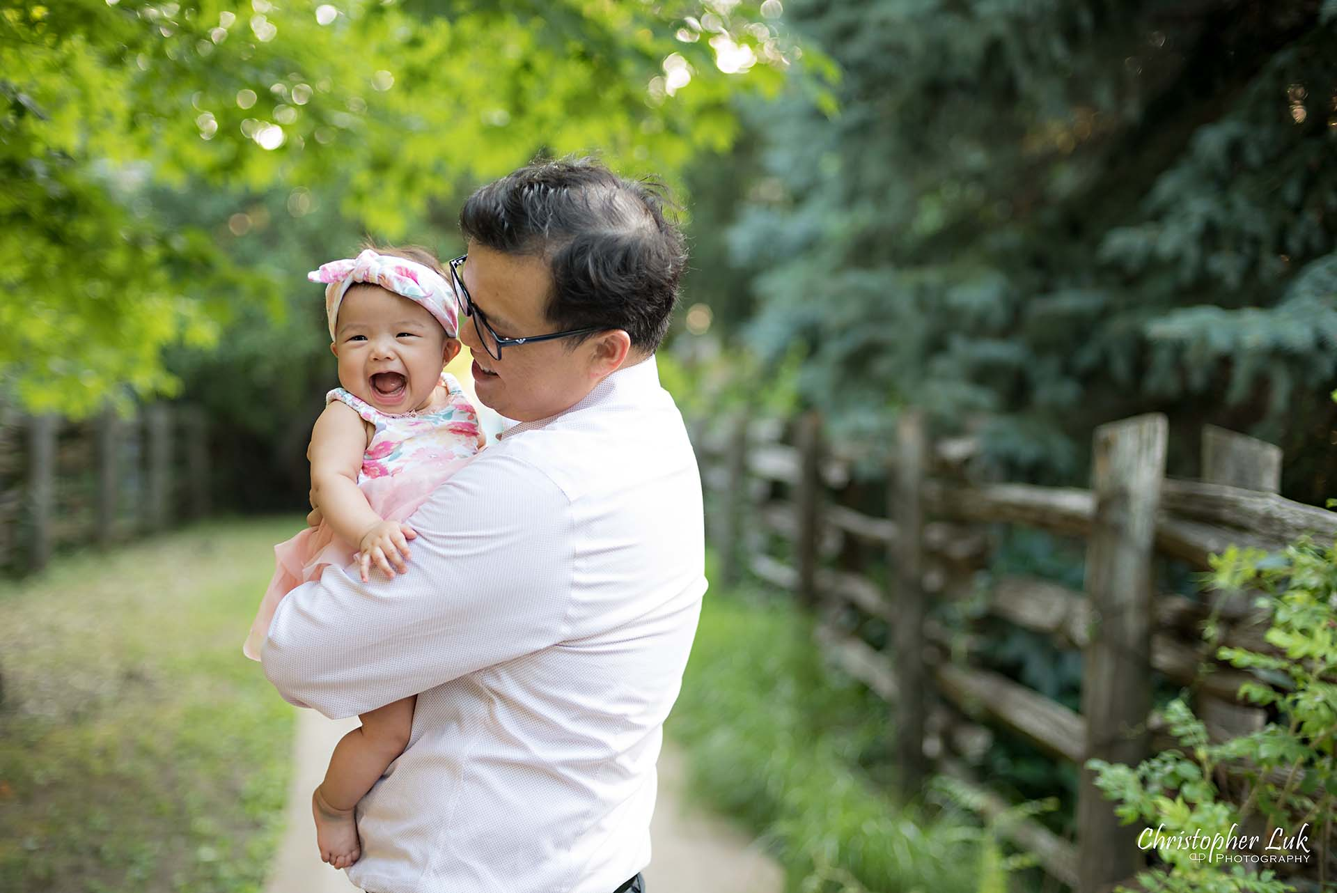 Christopher Luk Toronto Markham Family Children Photographer Candid Photojournalistic Candid Father Dad Baby Girl Daughter Hug Adorable Cute Laugh Smile