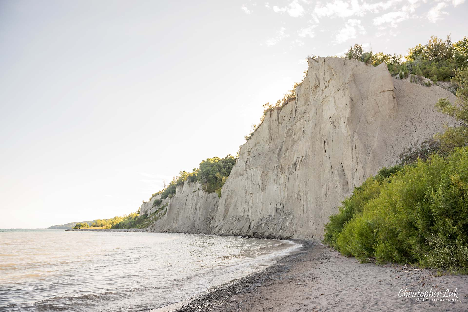 Christopher Luk Toronto Photographer Scarborough Bluffs Beach Park Sunset Surprise Wedding Marriage Engagement Proposal Cliff Stone Rock Face