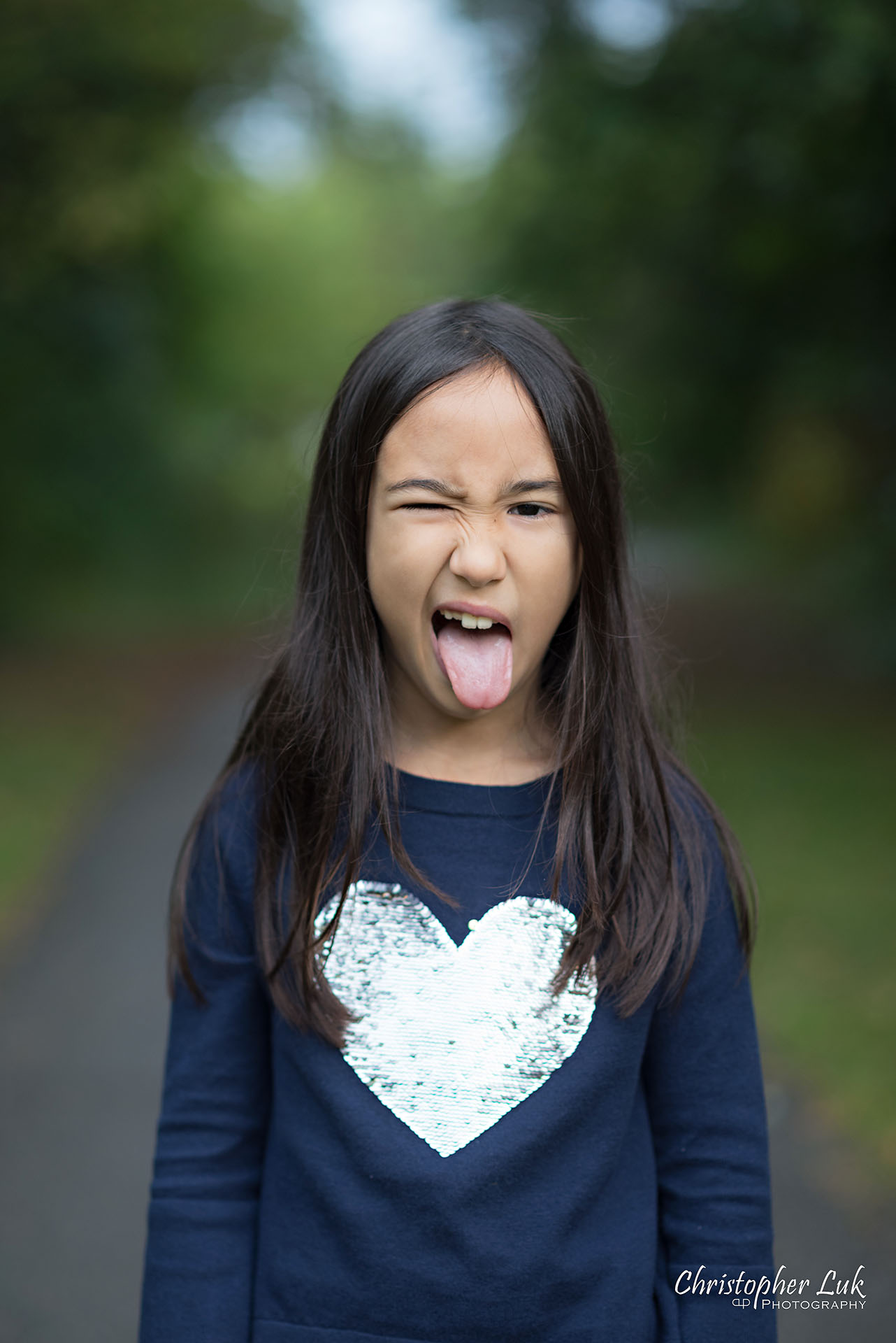 Christopher Luk Family Photographer Toronto Markham Candid Natural Photojournalistic Daughter Sister Funny Face