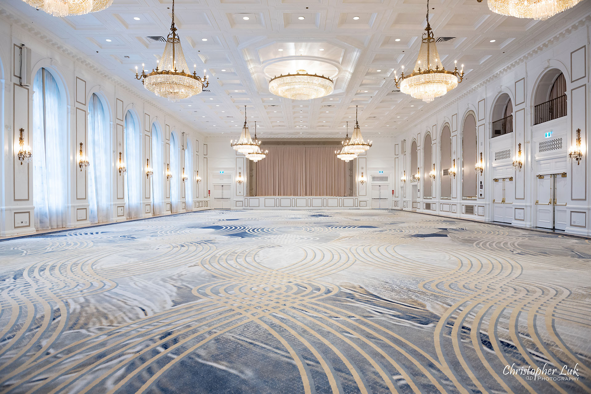 Toronto Fairmont Royal York Hotel Wedding Christopher Luk Photographer Photography Concert Hall Wide Stage