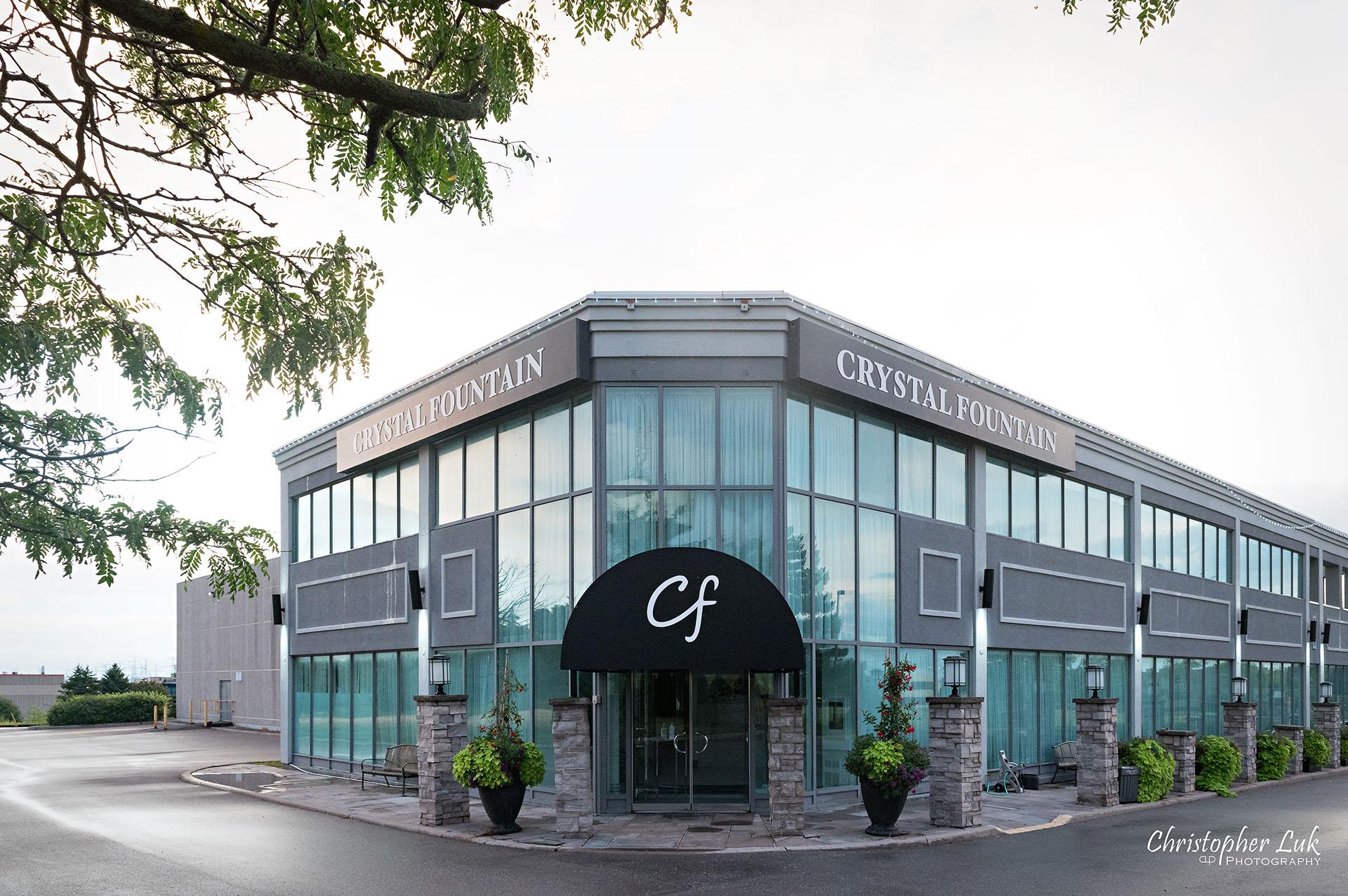 Christopher Luk Toronto Wedding Photographer Bridle Trail Baptist Church Unionville Main Street Crystal Fountain Event Venue Markham Exterior