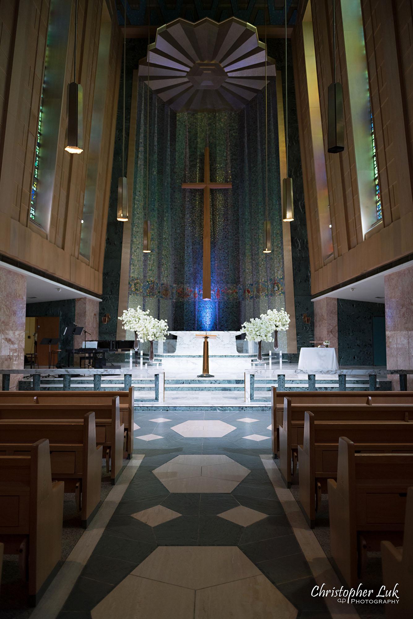 Christopher Luk Toronto Wedding Photography Tyndale Chapel Church Ceremony Venue Location Altar