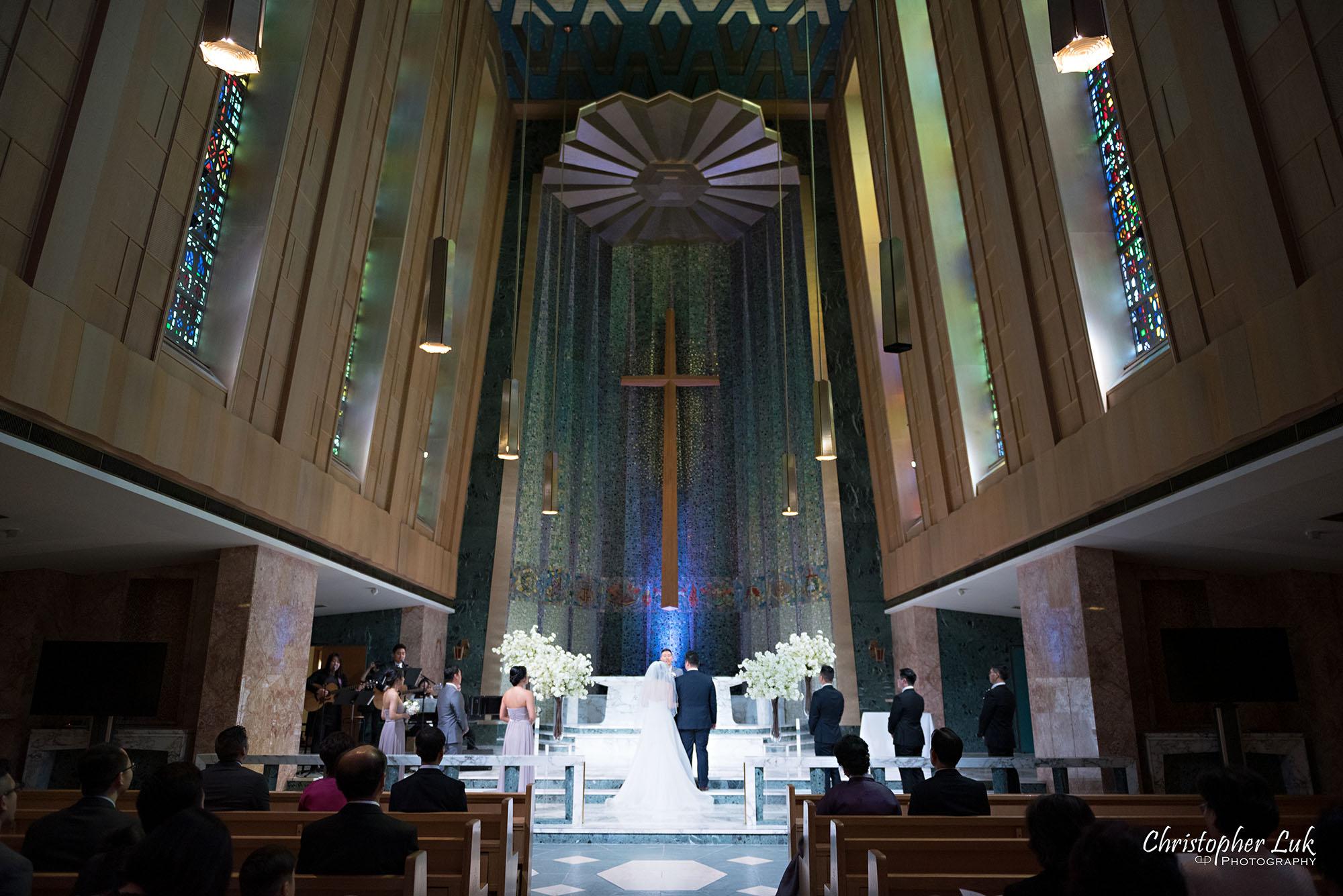 Christopher Luk Toronto Wedding Photography Tyndale Chapel Church Ceremony Venue Location Bride Groom Altar Landscape