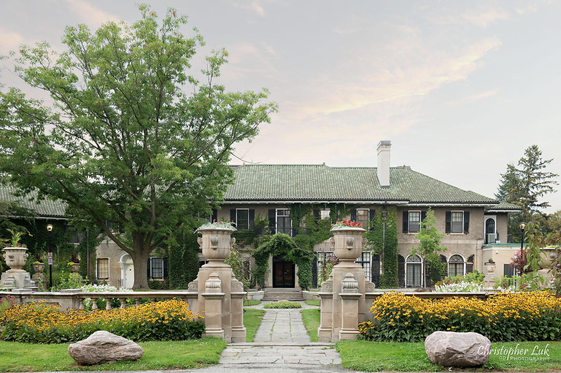 Christopher Luk Toronto Wedding Photographer Glendon Hall College Campus York University Engagement Session Garden Stone Architecture Estate Landscape